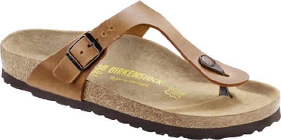 Womens Birkenstock Gizeh - Natural Leather - Antique Brown ... ac609bc66a8